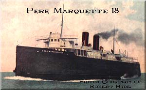 1910 : Michigan Car Ferry Pere Marquette 18 Sinks